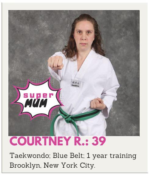 Taekwondo Beginner Mum or Taekwondo Beginner Mom Courtney
